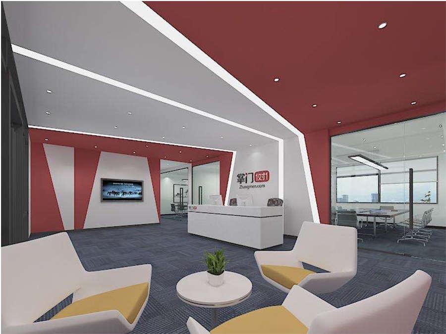 掌门教育2000m²办公室装修